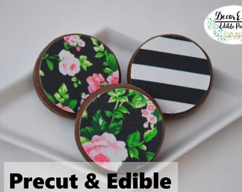 Kate spade cookie toppers,oreos edible topper,Kate Spade ,Kate Spade Bridal Shower,personalized oreo topper,chocolate covered oreos topper
