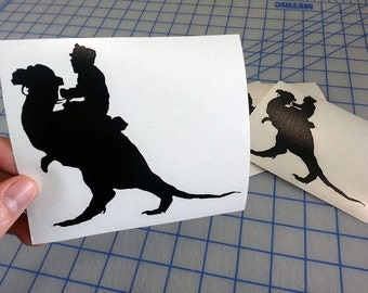 Star Wars Inspired Tauntaun decal.. Han Solo Tauntaun decal.. Star Wars Tauntaun sticker.. Han Solo Tauntaun sticker..
