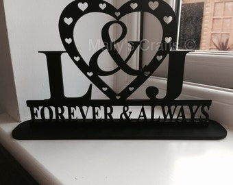 Forever and Always Personalised Plinth