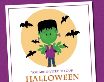 Kids Halloween Invitation, Halloween party invitation Kids, Kids Costume party, Halloween Invitation Printable, Halloween Birthday Party