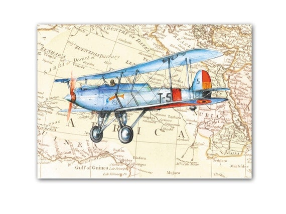 Wall Art Design Etsy Coupon Code : Off coupon on airplane decor any prints vintage prop