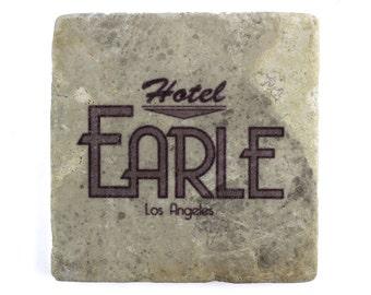 Barton Fink: Hotel Earle Marble Tile Drink Coaster