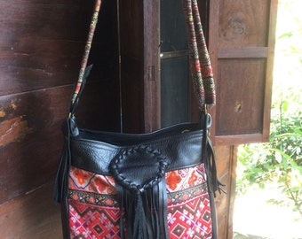 Boho vintage embroidery bag