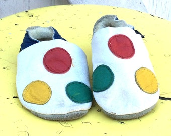 Estate Bobux Baby Soft Leather Polka Dot Baby Shoes Infant Size 0 to 3 Months