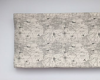 Changing Pad Cover - Airplane Flight Map