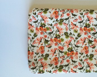 Changing Pad Cover - Riley Blake Apricot in Cream