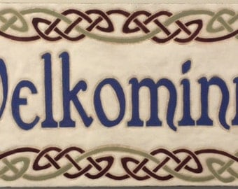 Velkominn address/welcome tile