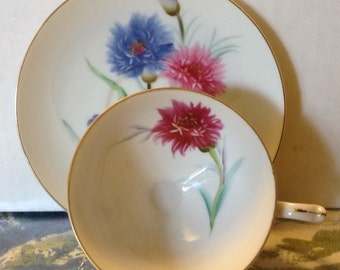 Vintage Floral Tea Cup