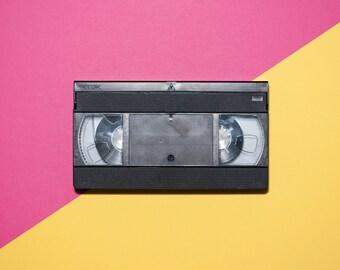 VHS Tape Pop art still life photography