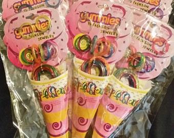 Ice cream social party favor jewelry 18pcs per unit-6 units