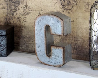 Standing Metal Letters Beauteous 7 Inch Metal Letter Metal Letters Industrial Letters Rustic Design Decoration