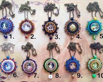 SALE !! Colourful pendant