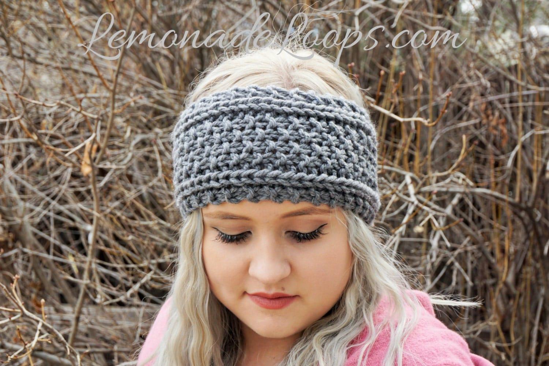 Knitting Headbands For Beginners : Knit pattern aemilia headband earwarmer beginner level in