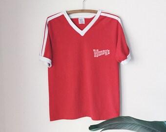 1970's Wendy's Uniform Top