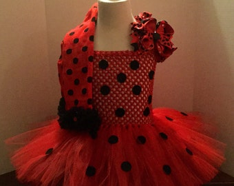 LadyBug Dress, Costume, LadyBug Tutu, LadyBug Tutu Dress, Dance Recital Outfits, LadyBug LegWarmers, Black & Red Boutique Bow, Perfect Gift