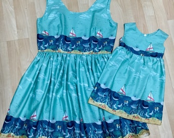 Whales, Ocean Mommy & Me Dresses