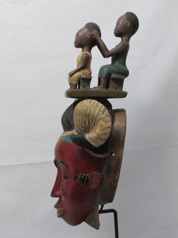 african mask guru zaouli tribal mask african art collectible african tribal mask