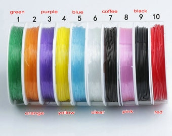 1 roll 0.6mm Crystal Stretch String, Elastic Beading String, Jewelry Finding, Beading Supplies, Jewelry Supplies Y274