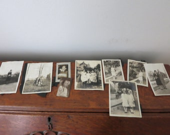 10 photos- Vintage Photo Lot 20's Flapper, children, women, men