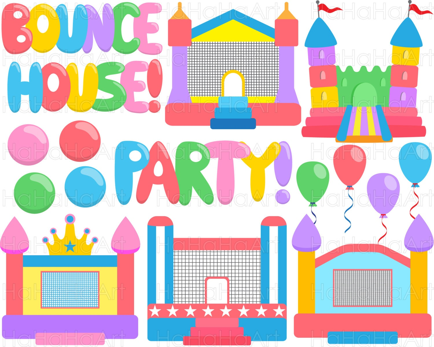 Simple Bounce House Party