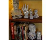 Phrenology / palmistry statue - 4 styles - human mind statue / hand statue