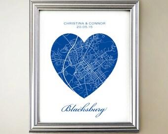 Blacksburg Heart Map