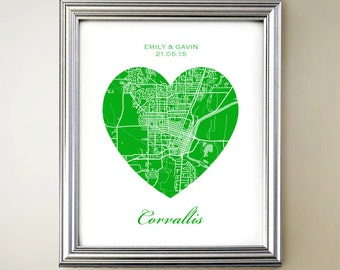 Corvallis Heart Map