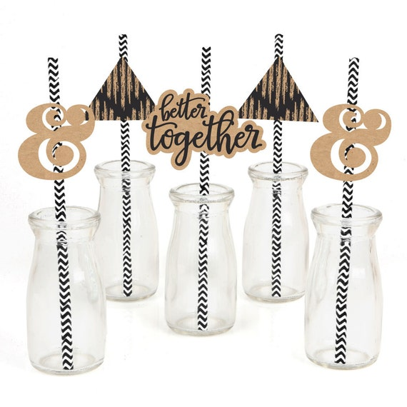 decorative straws for weddings better together wedding straw d 233 cor with paper straws 3463