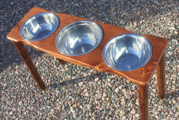 Tall Xtra Large Triple Elevated Dog Bowls By