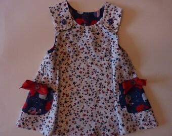 Star Spangled Girls' Summer Dress