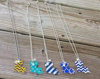Louisiana State Pride Necklace - Acrylic Pendant