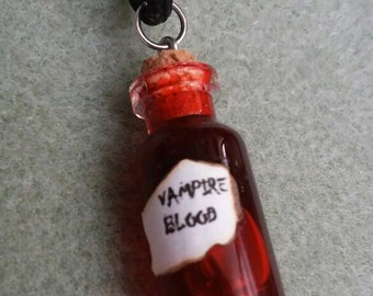 Very cool vampire blood necklace