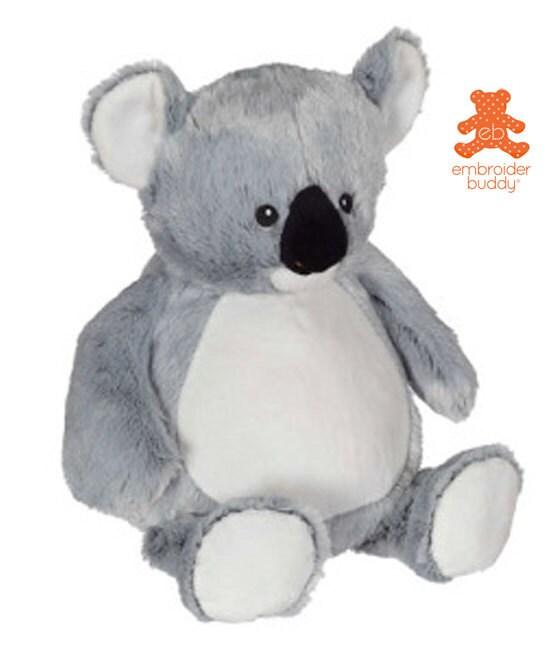 Personalized stuffed koala embroidered animal gift