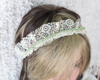 Lace and Rhinestone tie back.Photo prop
