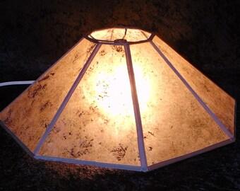"""Mica Lamp shade silver mica 18"""""""