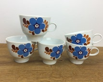 Colditz - Retro GDR - Coffee cups - Made in East Germany - Produced in the 60/70s - Mid Century Modern.