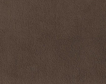 Fabric by the 1/2 Yard - Solid Brown Anti Pill Fleece Fabric