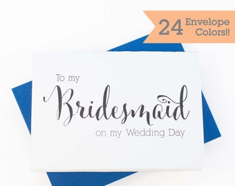 Thank You Card to your Bridesmaid, Wedding Card to your Bridesmaid, Thank you card for Bridesmaid (WC110-CN)