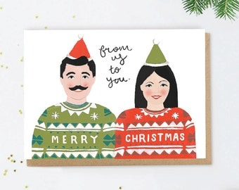 From Us to You Couple's Christmas Greeting Card