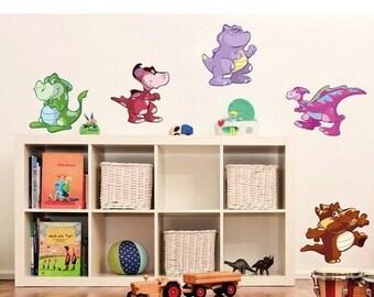 20% SALE - FREE SHIPPING Baby Dino Set nursery wall decal, deco, sticker, mural, vinyl wall art