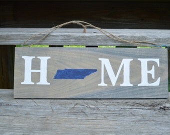 Tennessee Home Sign, Home State Sign, Home Sign, State Outline, State Sign, Housewarming Gift, Home Wall Decor, Handpainted Sign