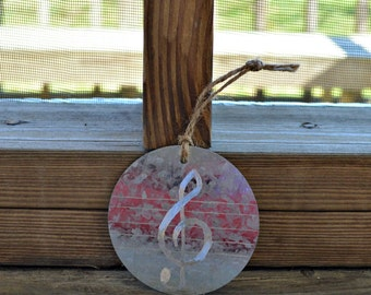 Music Note Ornament, Metal Christmas Ornament, Christmas Ornaments, Holiday Decor, Christmas Decor