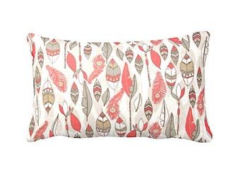 7 Sizes Available: Decorative Pillow Throw Pillow Cover Decorative Throw Pillow Cover Coral Pillow Pink Pillow 20x20 pillow Lumbar Pillow