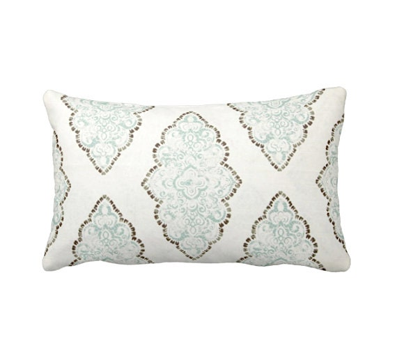 Standard Throw Pillow Cover Sizes : 7 Sizes Available: Blue Throw Pillow Cover Light Blue Pillow