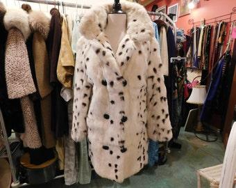 1960's Rabbit  Fur coat With matching Hat