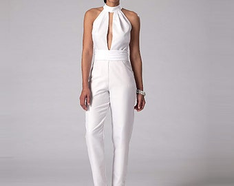 McCall's Pattern M7366 Misses' Pleated Surplice or Plunging-Neckline Rompers, Jumpsuits and Belt
