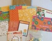 scrapbooking paper kit, BOHEMIAN, Graphic 45, mini scrapbook paper kit, paper bag albums kit,