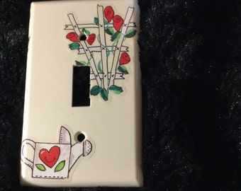 Rose Garden switchplate cover