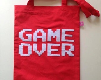 Tote bag Game Over
