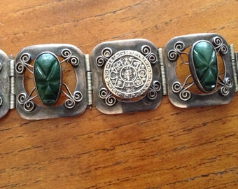 Vintage Sterling Taxco Mexico Bracelet signed  Anton